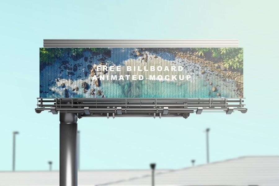 Free Billboard Animated Mockup