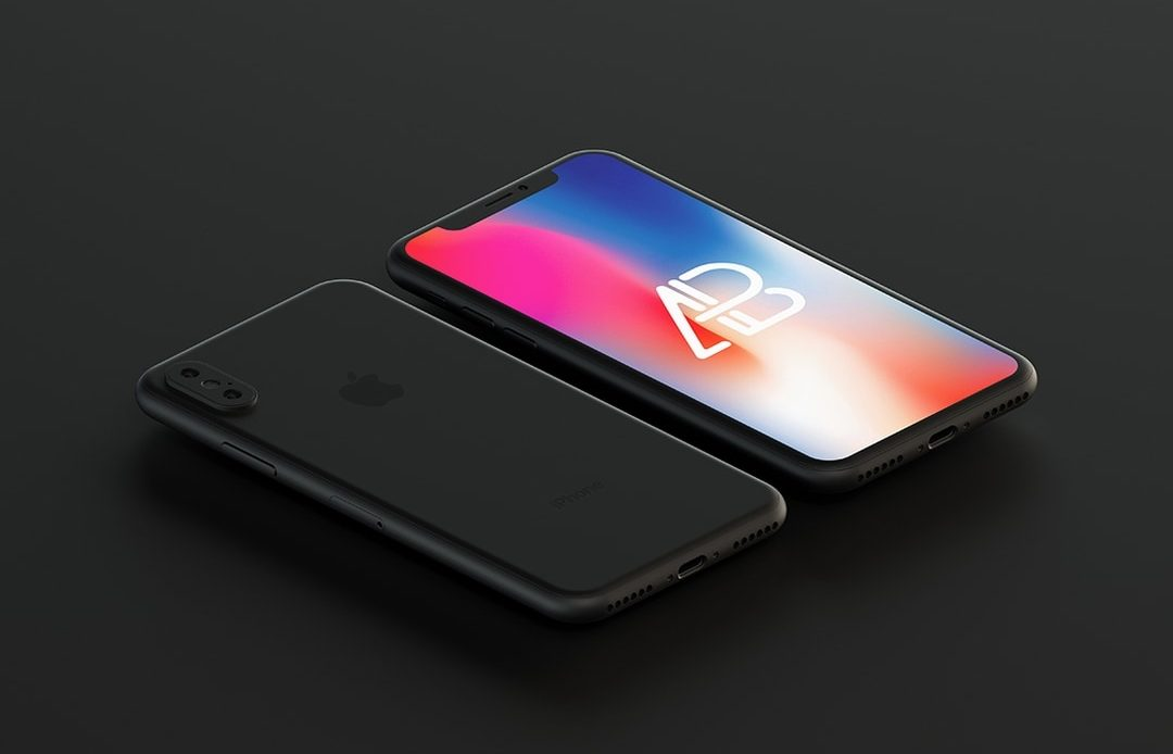 Matte Black iPhone X - Free Mockup
