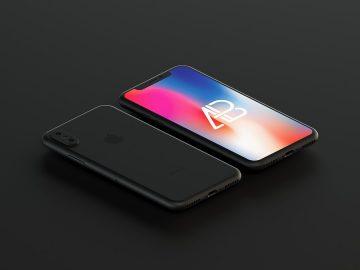 Matte Black iPhone X - Free Mockup