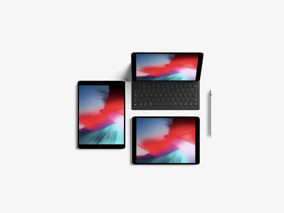 Modern Top View iPad Pro 10.5-inch Free Mockup