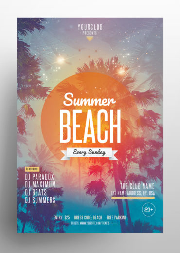 Summer Beach PSD Flyer Template
