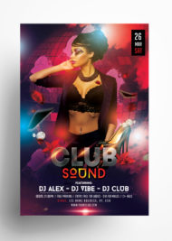 The Club Sound Free PSD Flyer Template