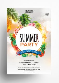The Summer Party PSD Free Flyer Template