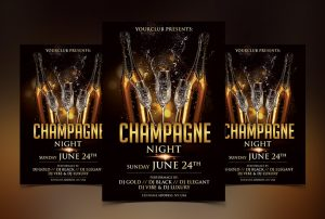 Champagne Night - Free Luxury PSD Flyer Template