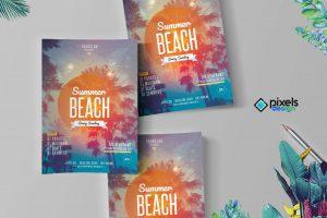 Summer Beach PSD Flyer Template