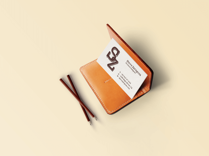 Free Vintage/Retro Business Card Mockup