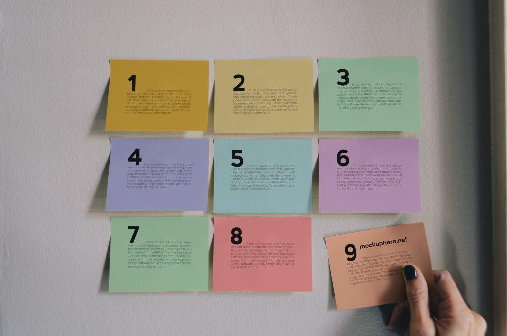 Free Sticky Notes Mockup