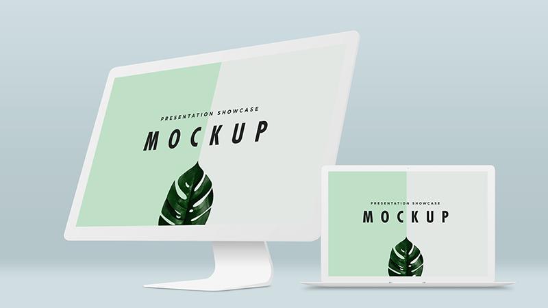 Free Macbook Pro & iMac Mockup