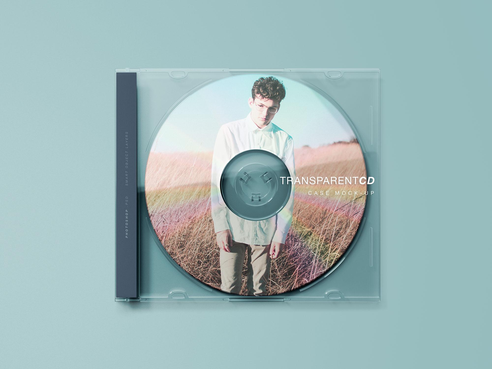 Free Transparent CD Case Mockup