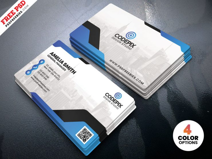 Free Minimal Corporate Business Card