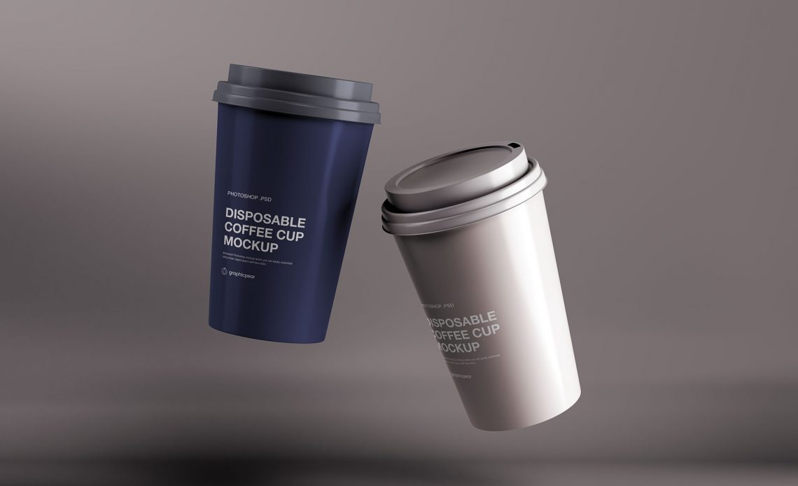 Free Disposable Coffee Cup Mockup