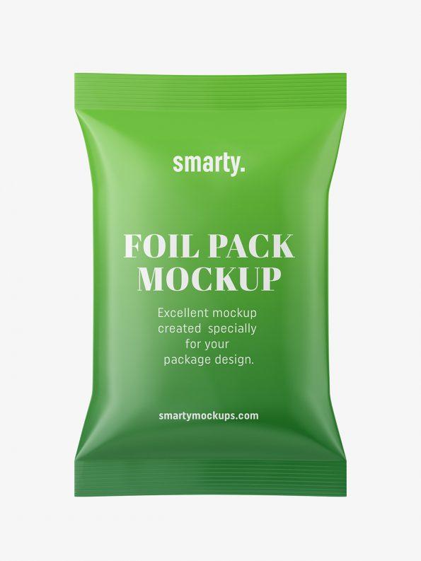 Free Foil Pack Mockup