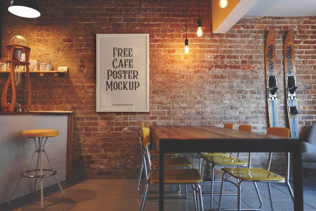 Free Cafe Poster Mockup