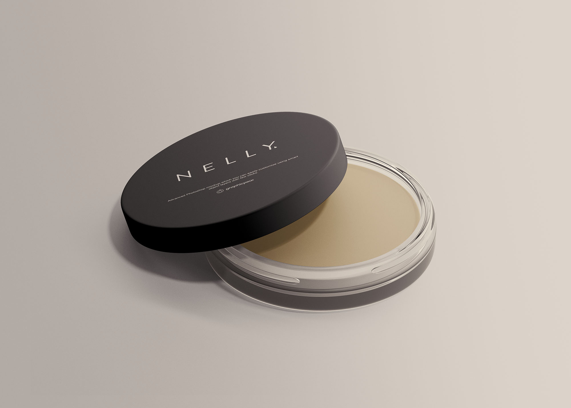Free Clear Glass Cosmetic Jar Mockup