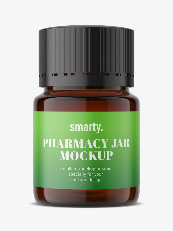 Free Pharmacy Jar Mockup