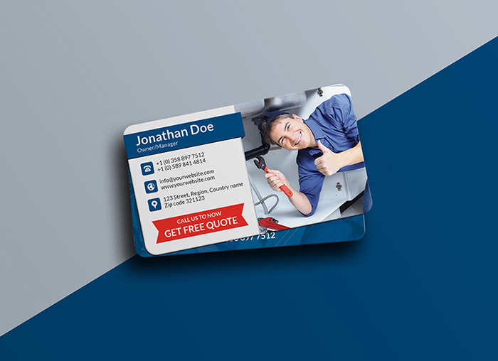 Free Professional Service Business Card Template