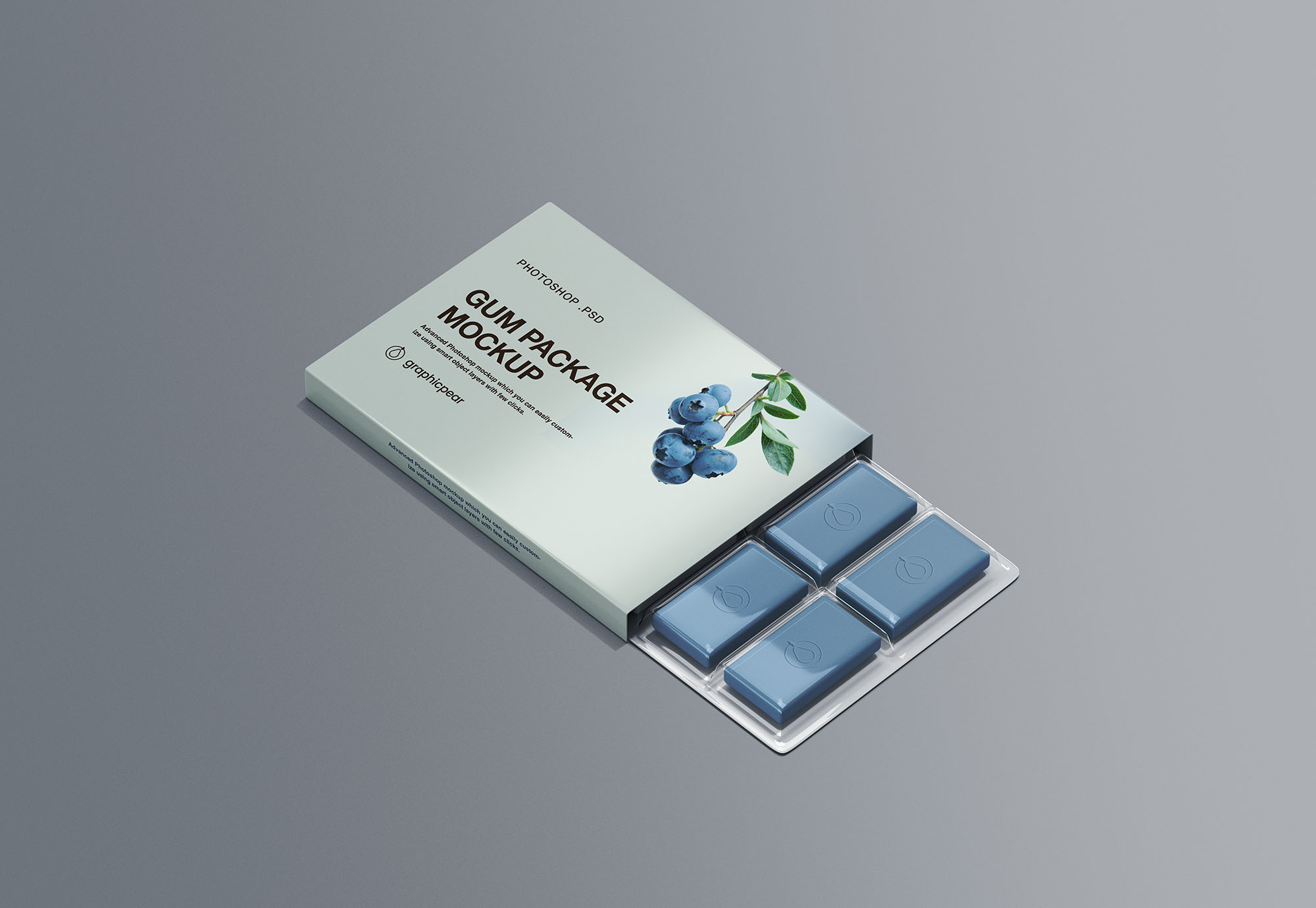 Free Chewing Gum Packaging Mockup