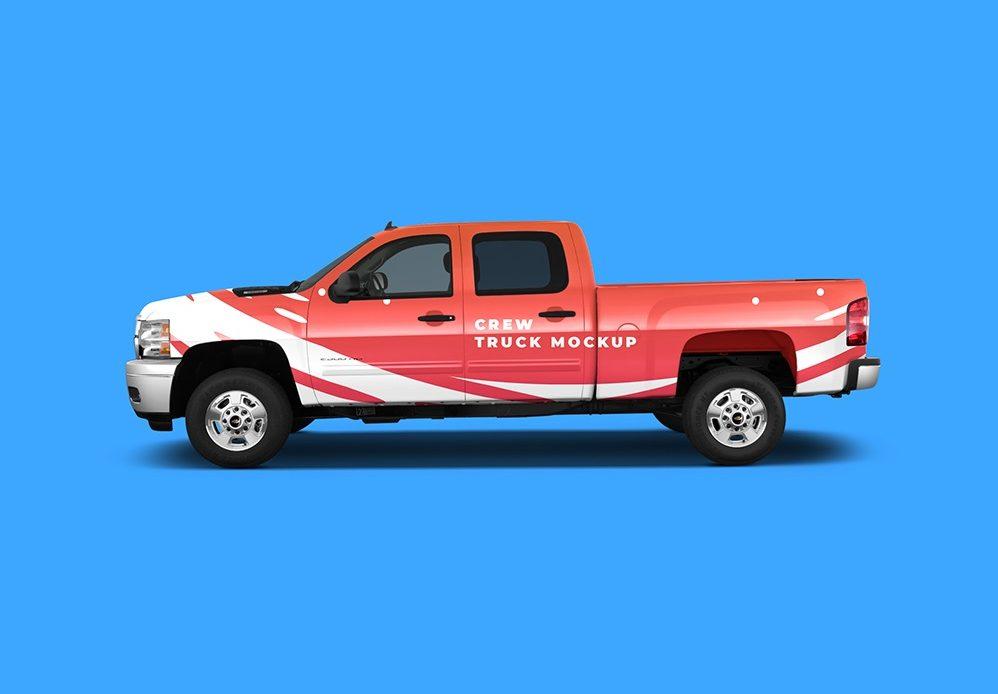 Free Crew Truck Mockup
