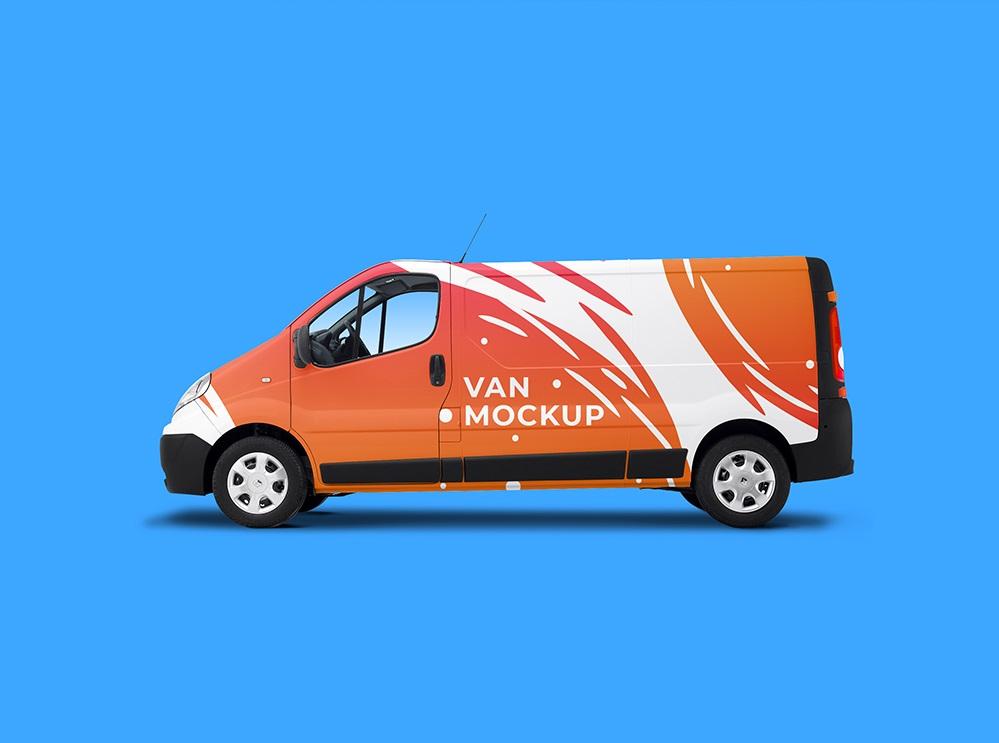 Free Traffic Van Mockup