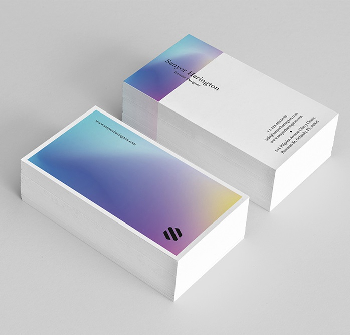 Free Holo Business Card Template
