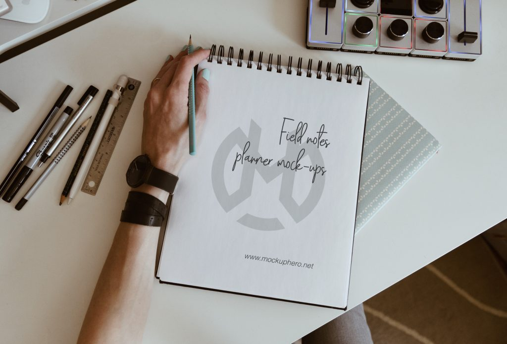Free Field Notes Planner Mockup