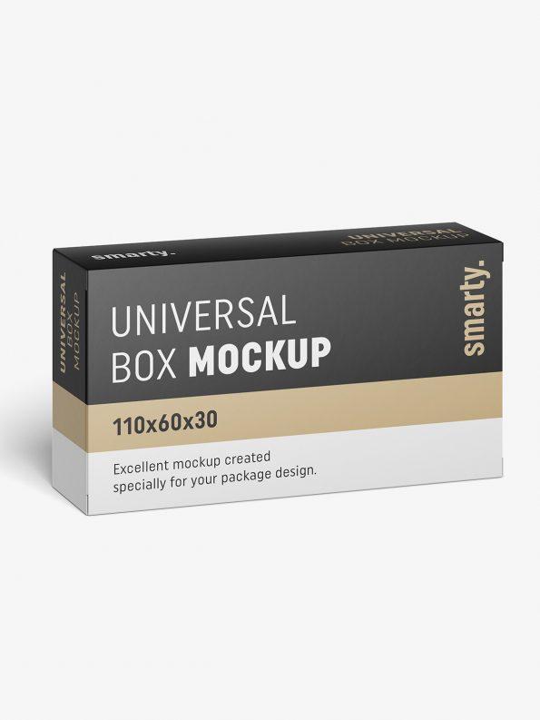 Free Box Mockup / 110x60x30