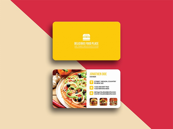 Free Delicious Food Business Card Template