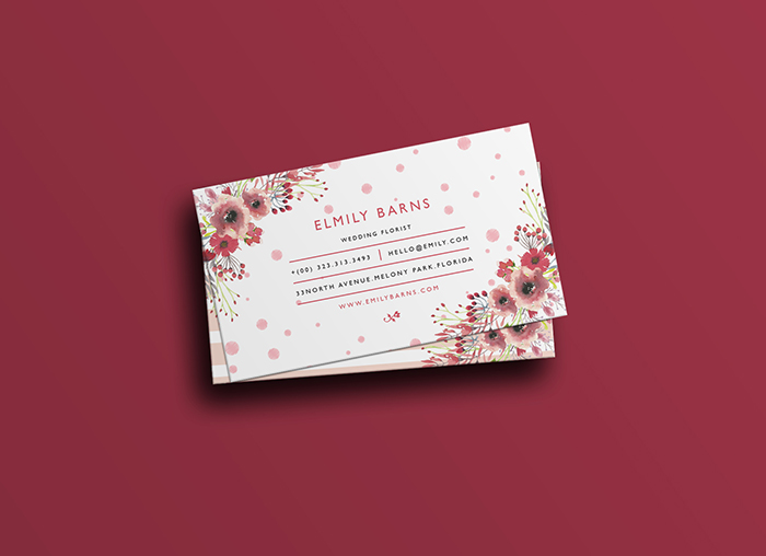 Free Florist Business Card Template