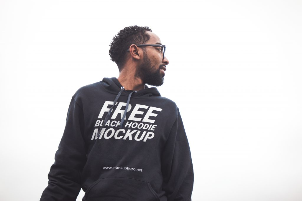 Free Black Hoodie Mockup For Men