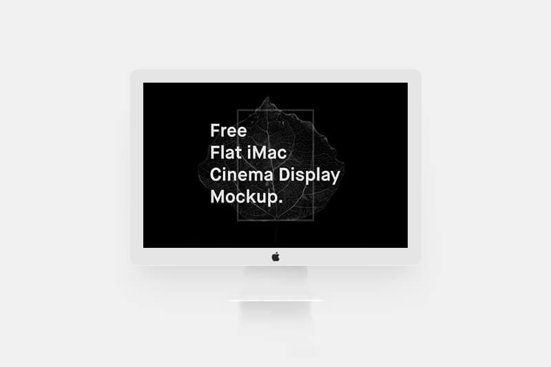 Free Flat iMac Mockup