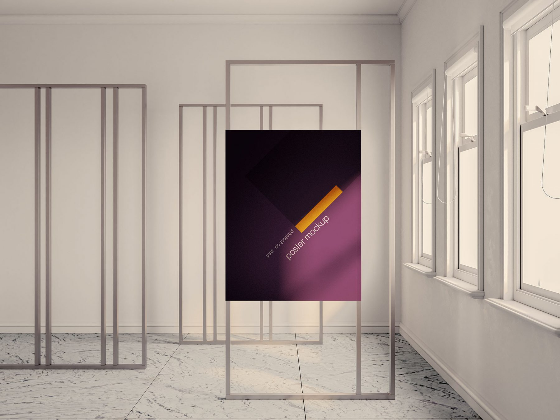 Free Exhibition Poster Mockup
