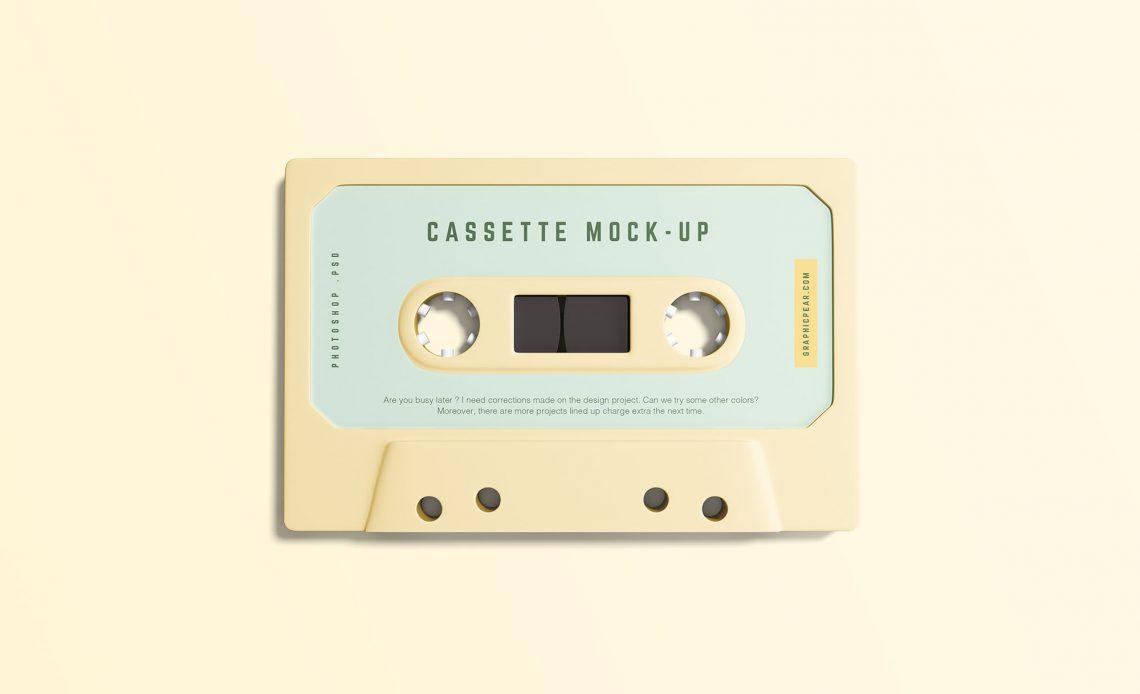 Free Simple Cassette Mockup
