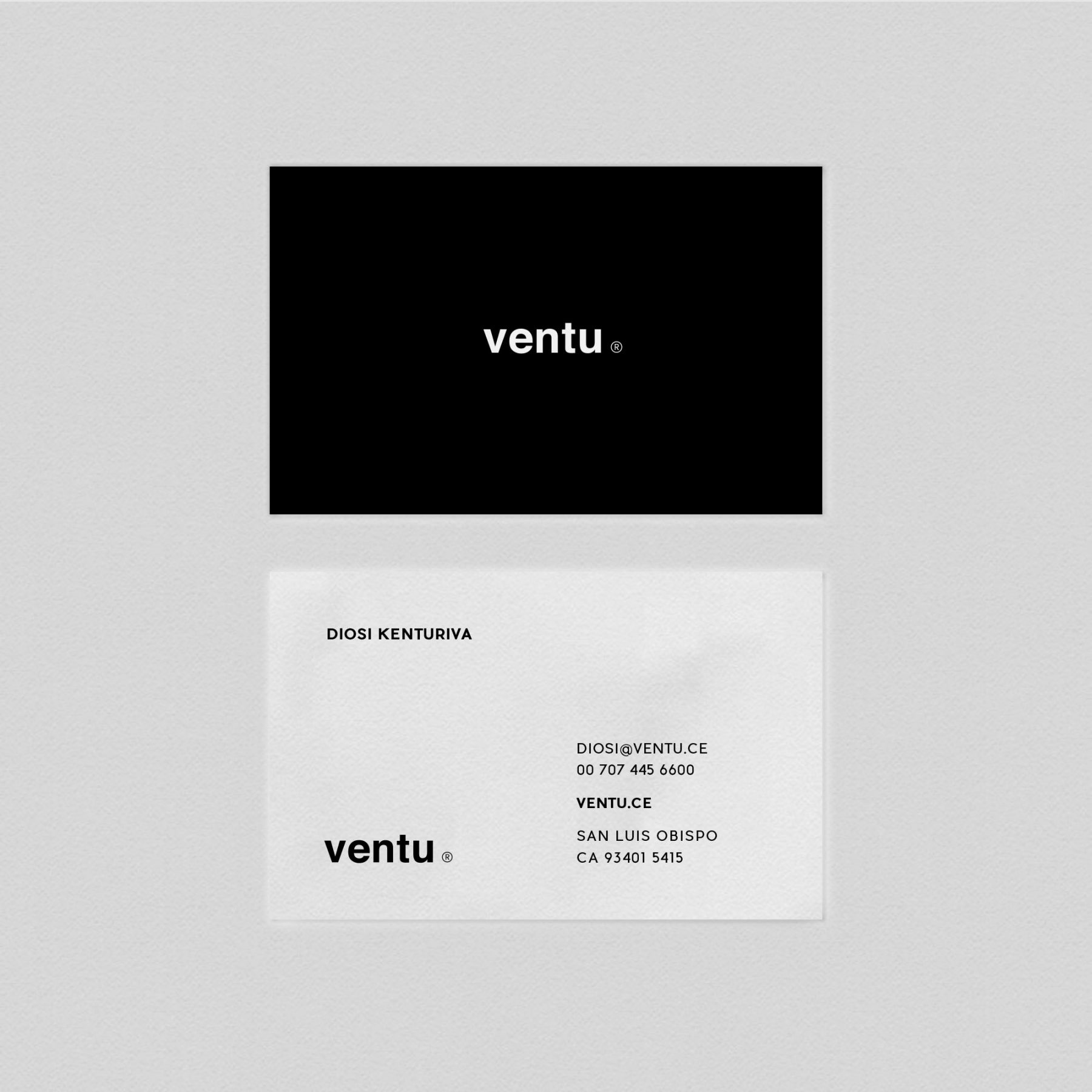 Free Ventu Business Card Template