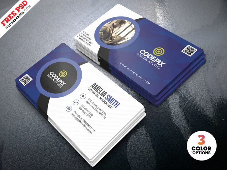 Free PSD Customizable Business Cards Design