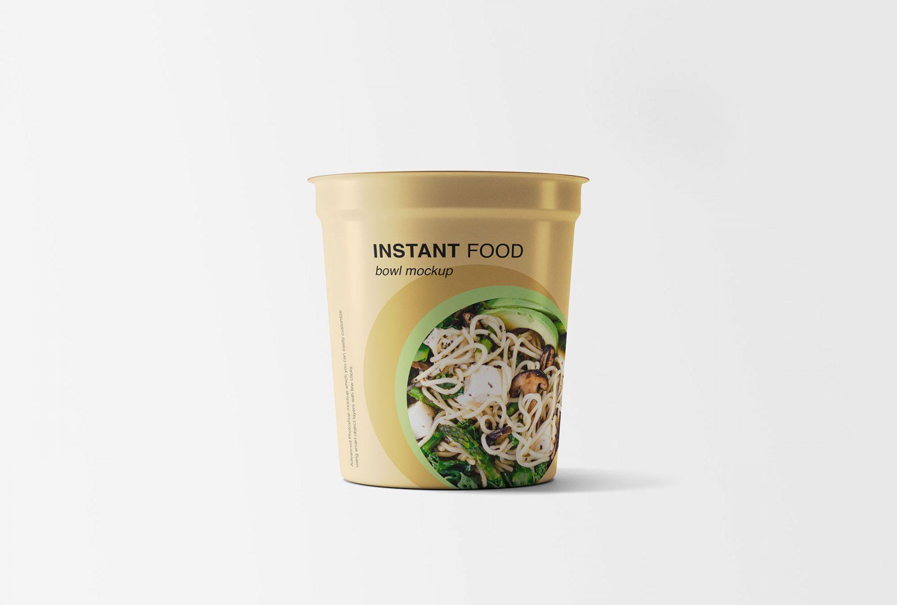 Free Instant Food Bowl Mockup