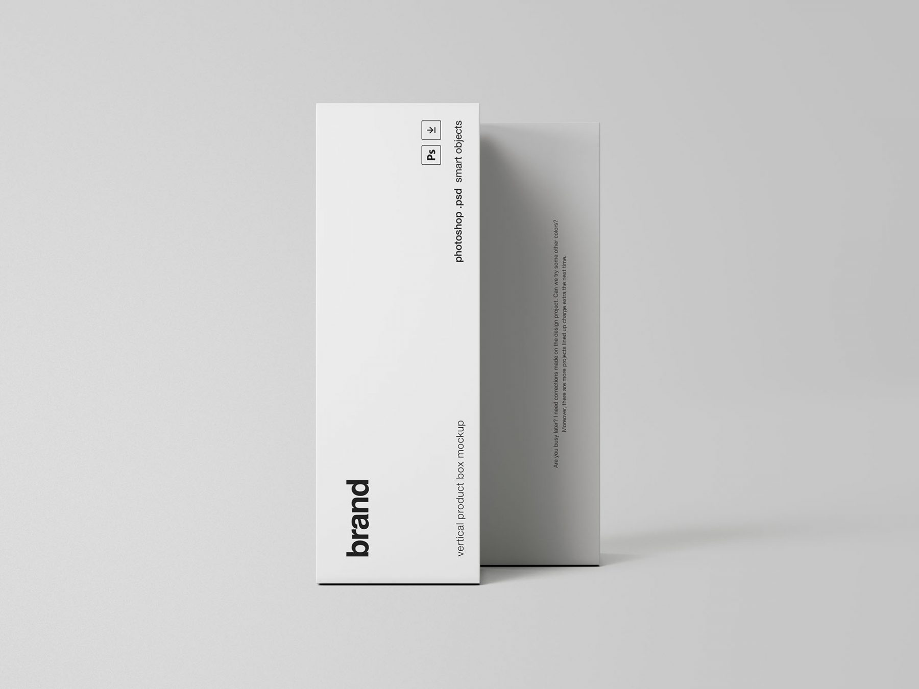 Free 2 Vertical Product Boxes Mockup
