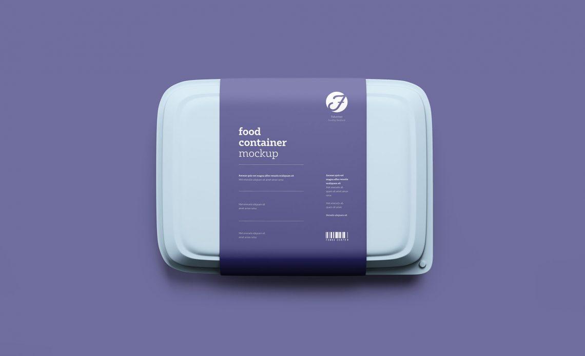 Free Plastic Food Box Mockup