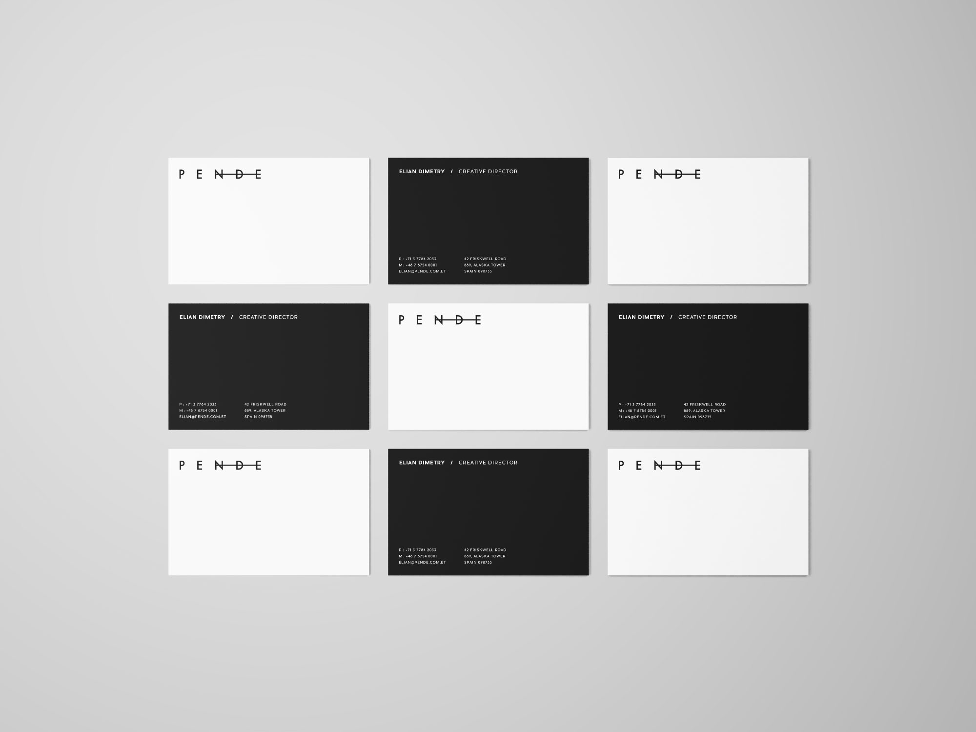 Free Uniform Overhead Business Cards Mockup