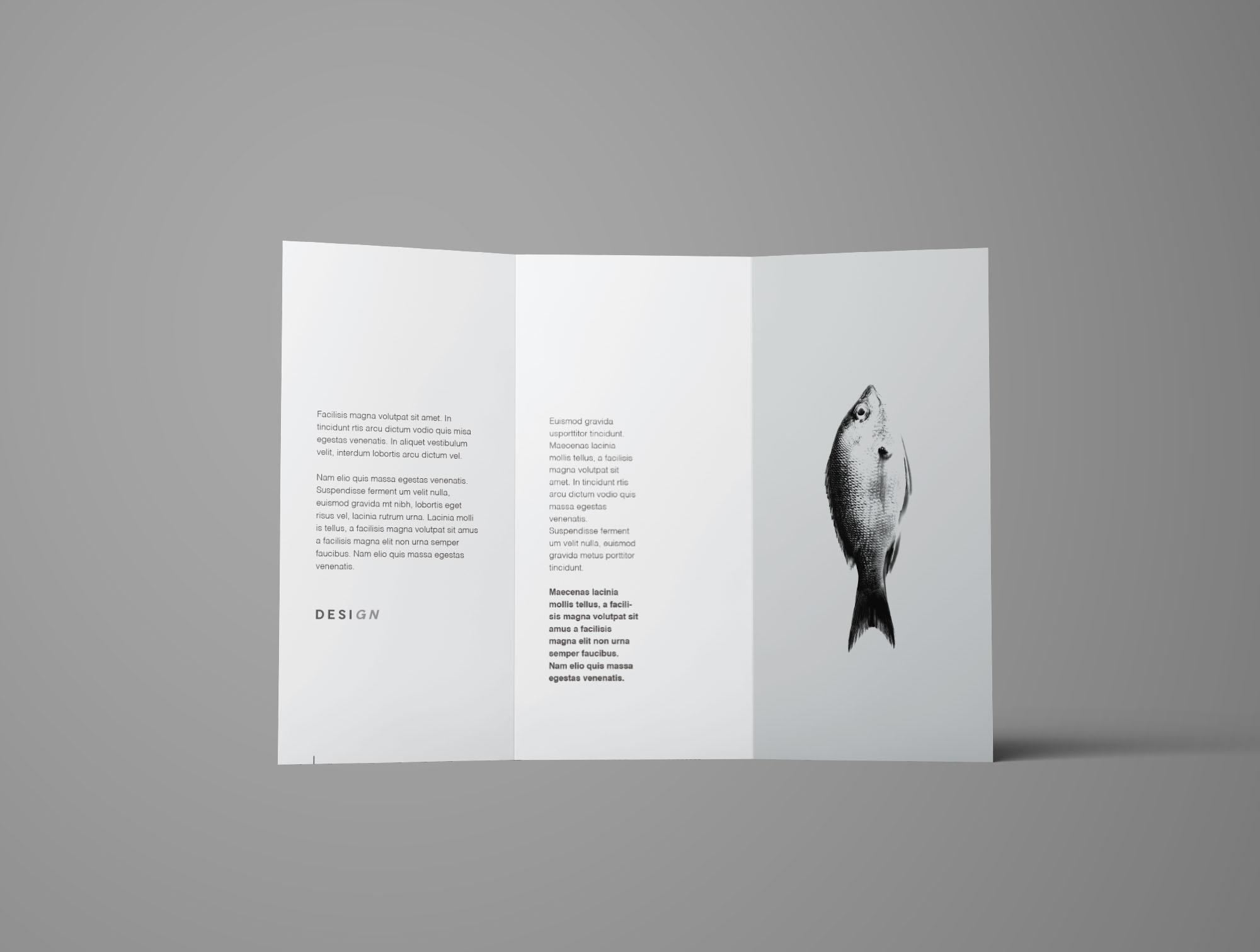 Free Advanced Trifold Brochure Mockup