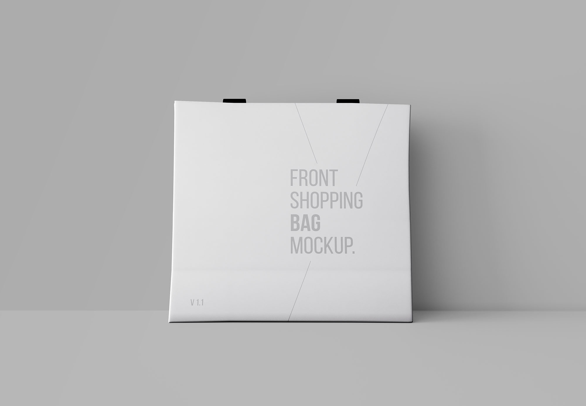 Free Front Shopping Bag Mockup