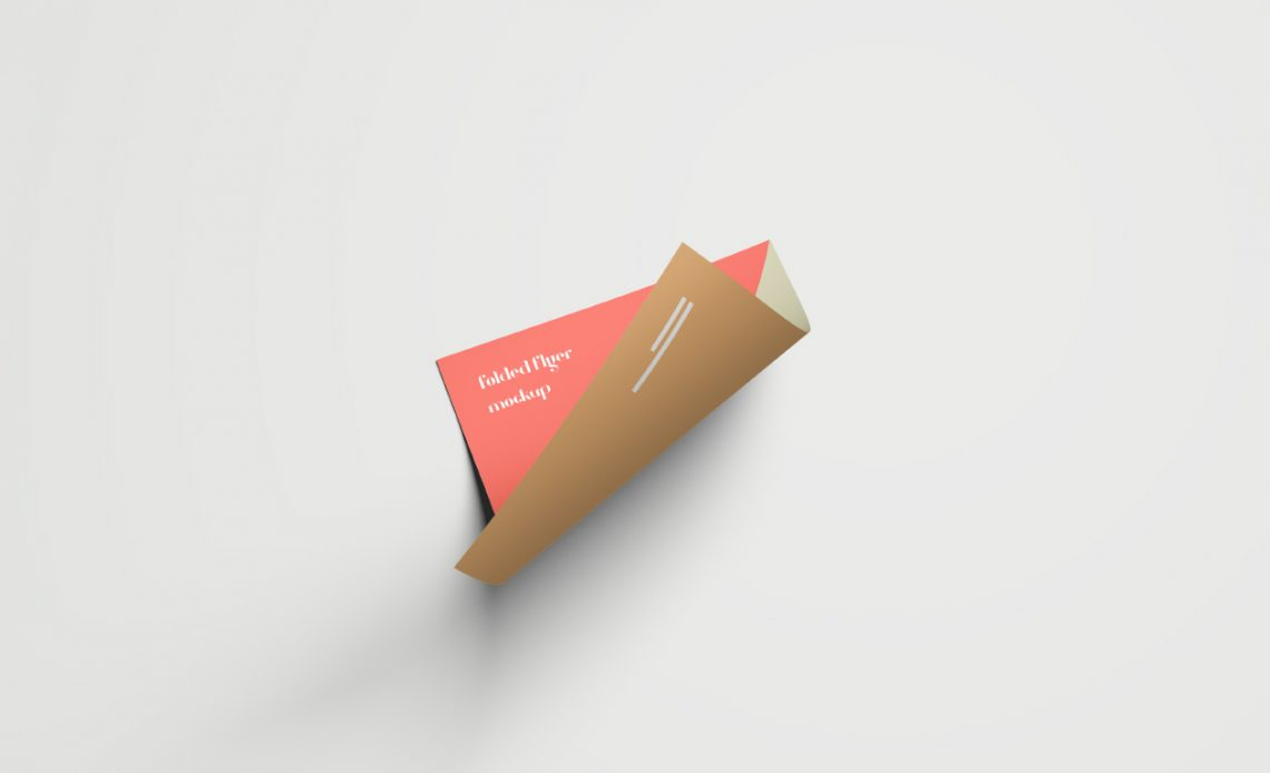 Free Folded Flyer Mockup