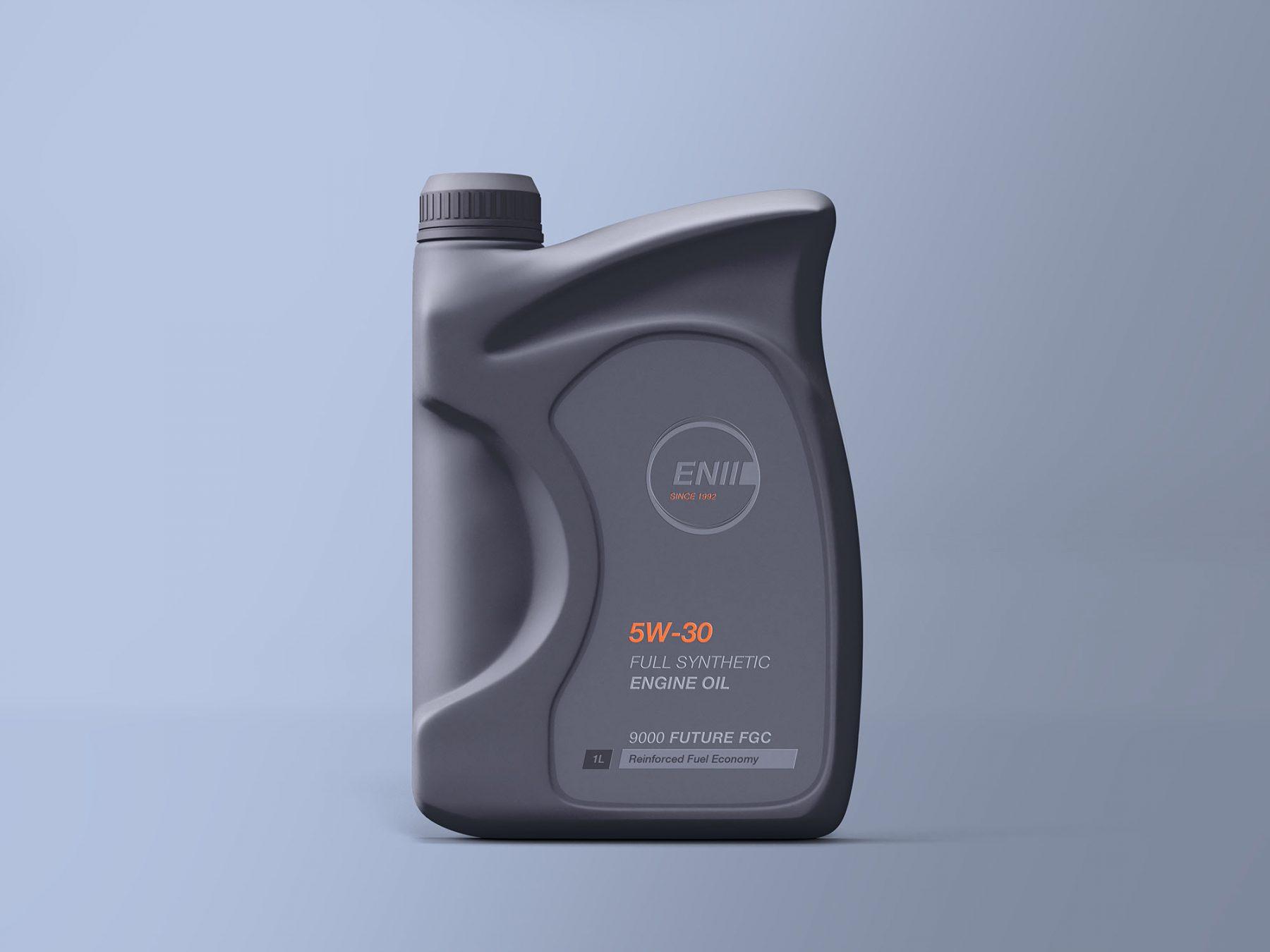 Free Engine Oil Bottle Mockup