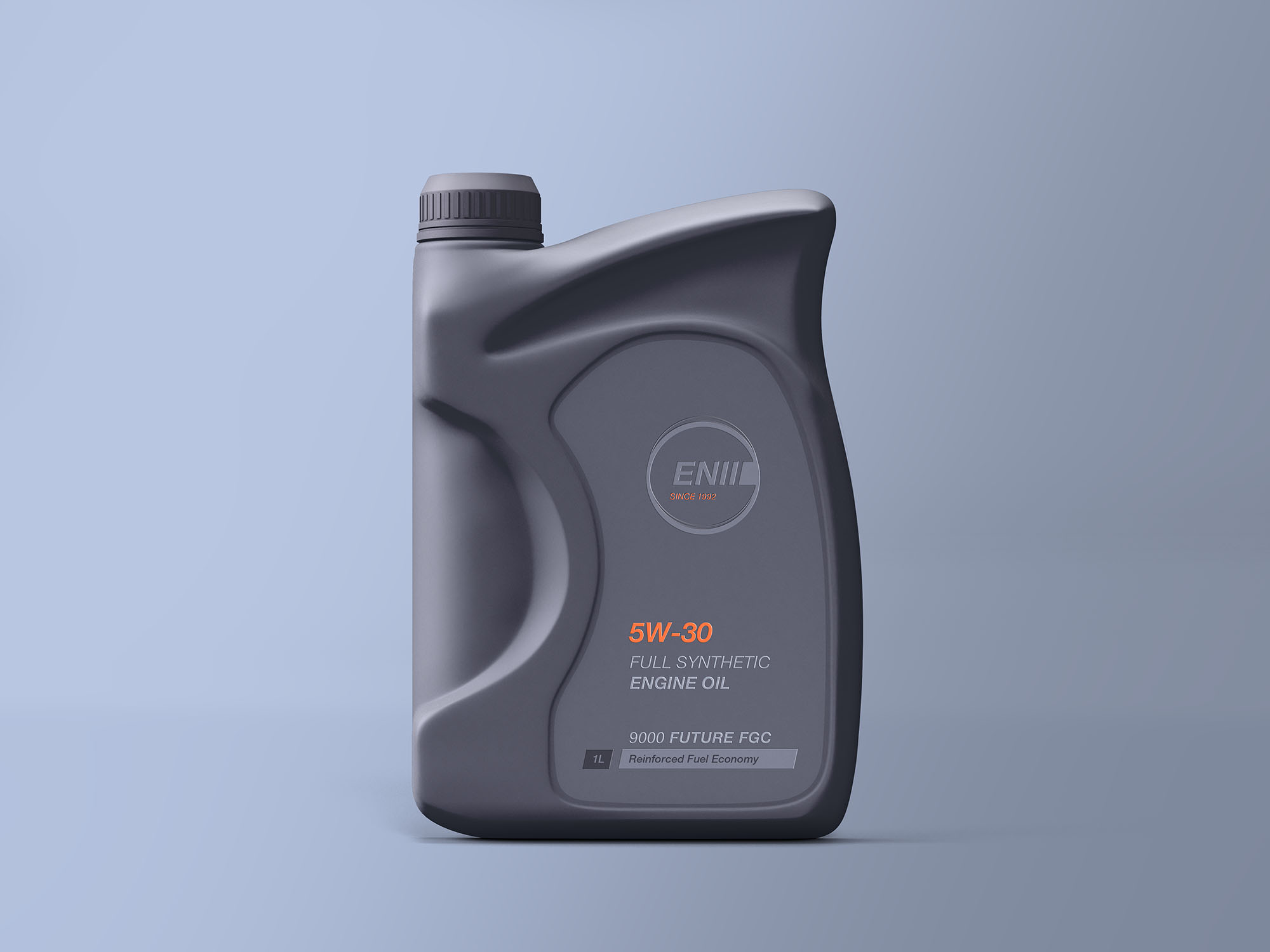 Free Engine Oil Bottle Mockup
