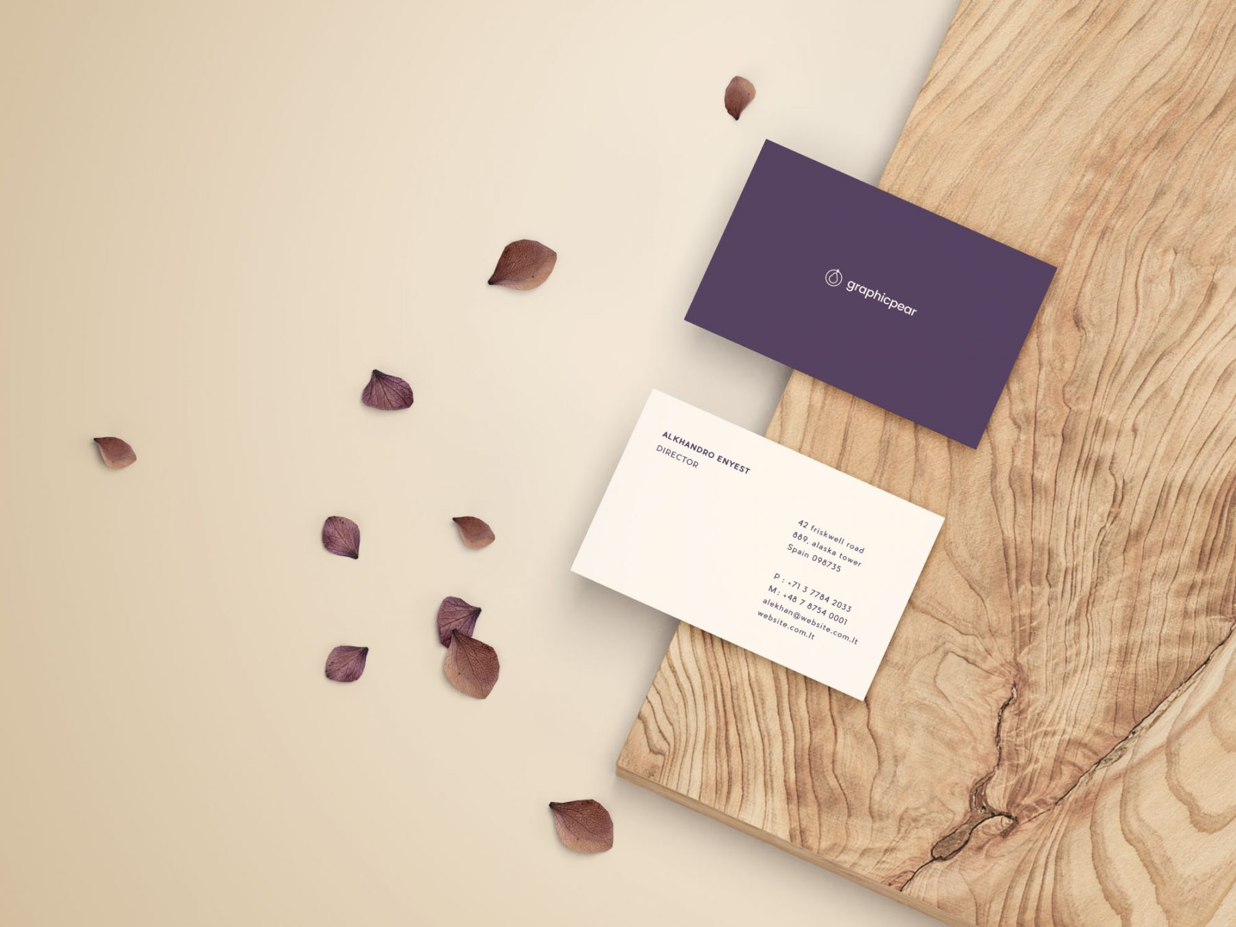 Free Front & Back Business Card Mockup