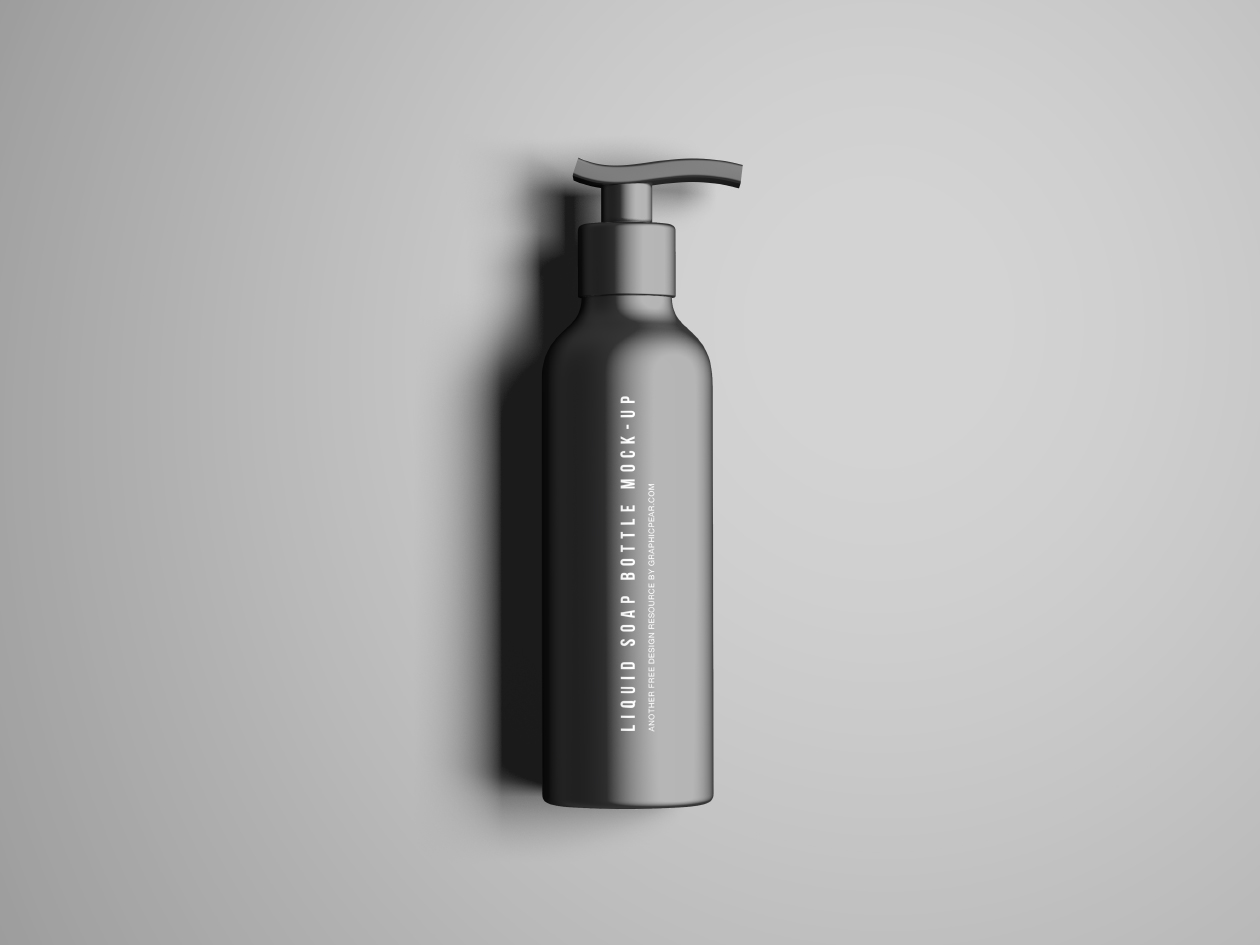 Free Liquid Soap Bottle Mockup