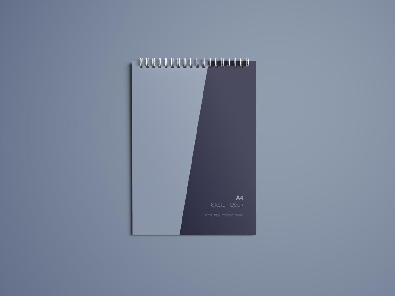 Free A4 Sketch Book Mockup