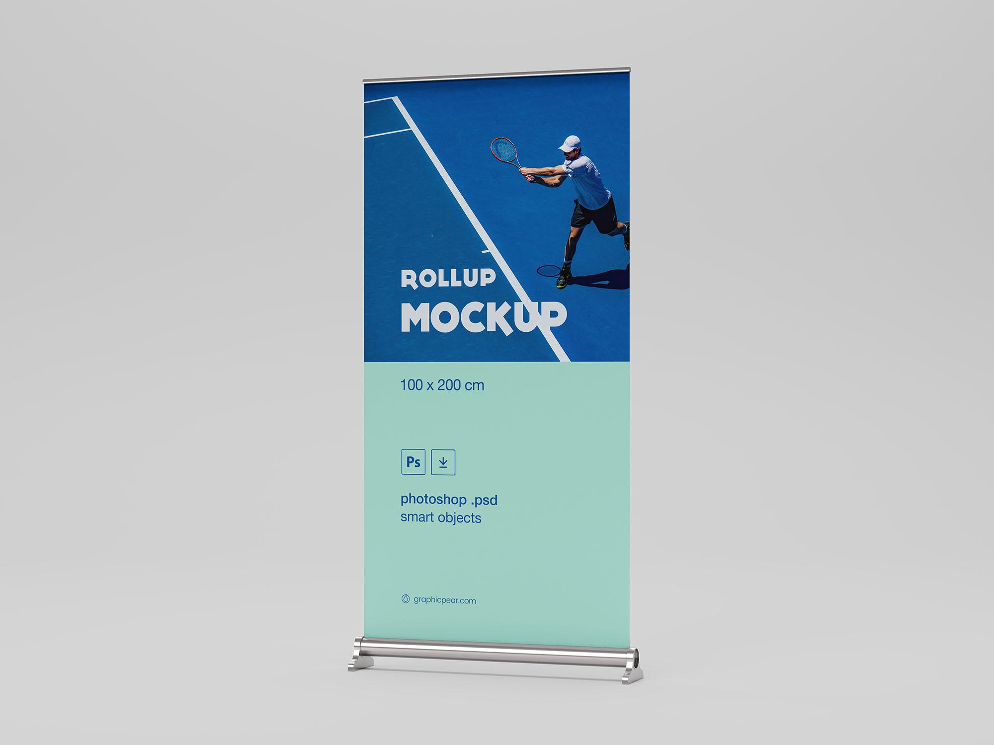 Free Rollup Mockup 100 x 200cm