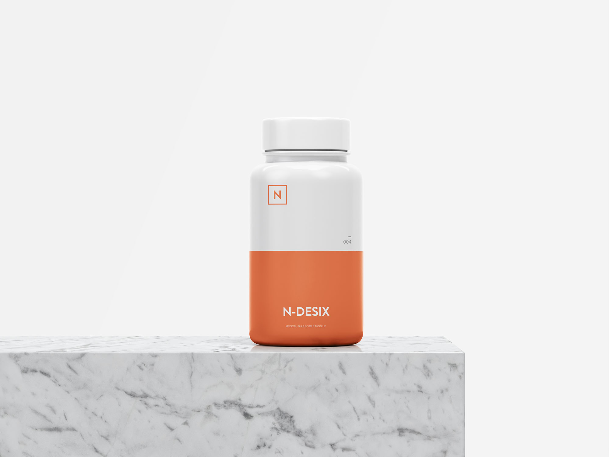 Free Pills Bottle Mockup