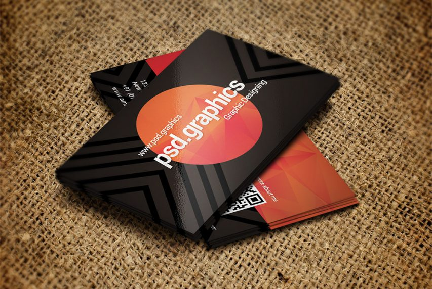 Free Creative Dark Business Card Template