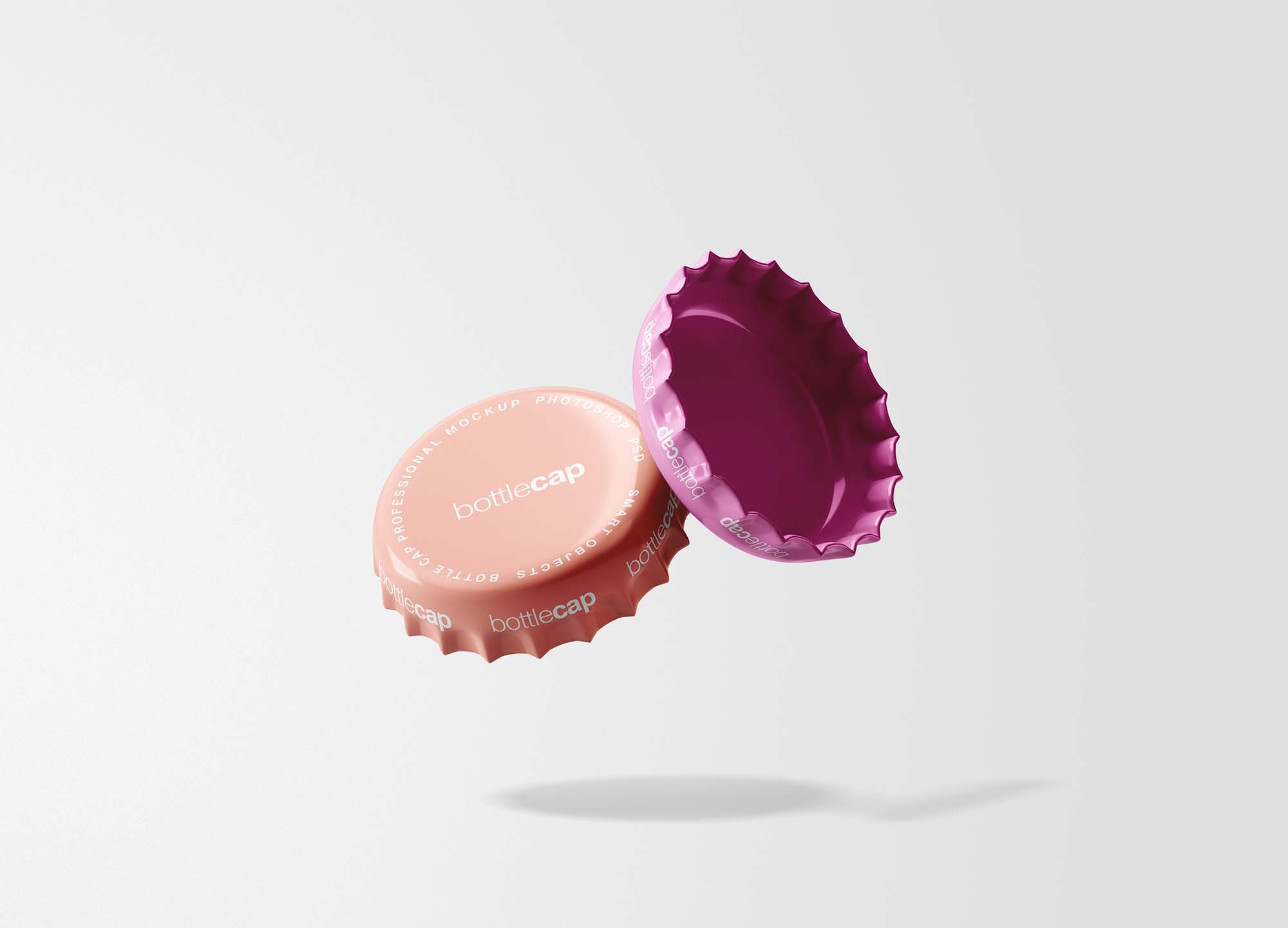 Free Bottle Cap Mockup